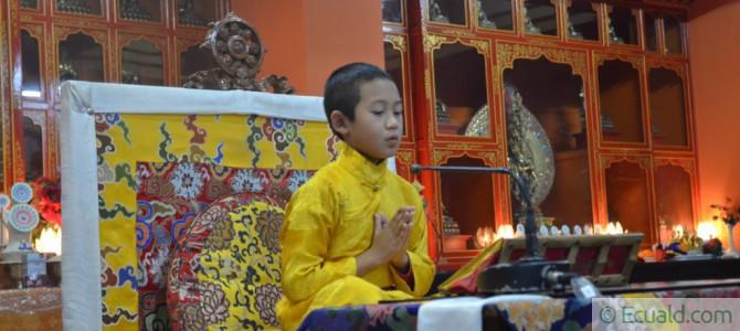 Yangsi Bokar Rinpoché à Mirik en octobre 2015