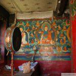 Fresque montrant Jigme Lingpa, Longchenpa et la lignée du Longchen Nyingtik