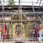 Temple principal en restauration
